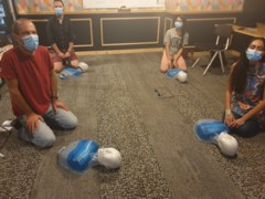 Socially distanced first aid training